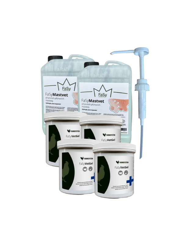 Balíček gelů pro první pomoc při mastitidě